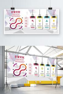简洁企业文化墙展板