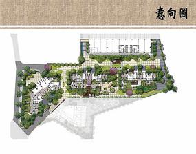 居住区景观设计平面图