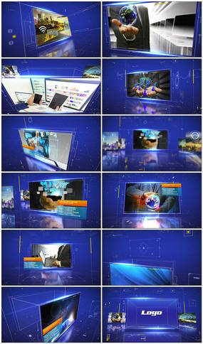 蓝色科技商务图文展示AE模板