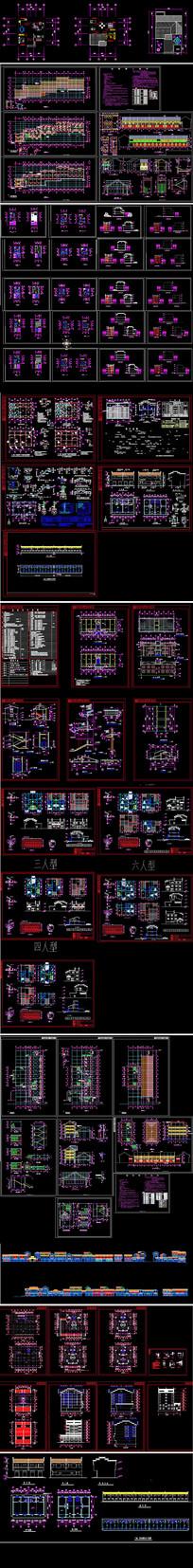 民宿客栈建筑设计CAD图 dwg