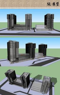 万达广场建筑su模型