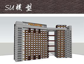 现代酒店建筑单体