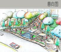 小区入口景观设计 JPG