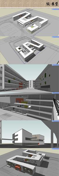 小学建筑设计模型