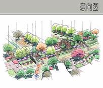 休闲景观手绘图 JPG