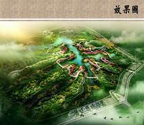 园博会景观规划设计鸟瞰图