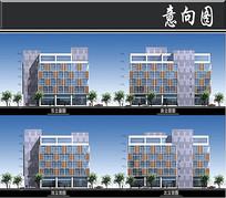 张江高科技园区建筑立面图 JPG