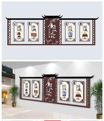 中国风简约廉政文化展板
