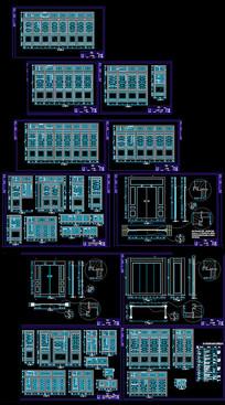 中式窗户CAD详图