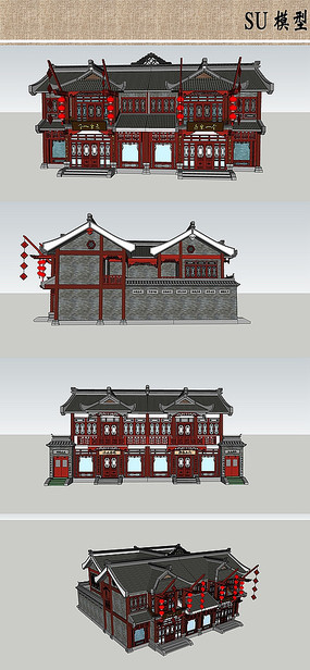 中式古建模型