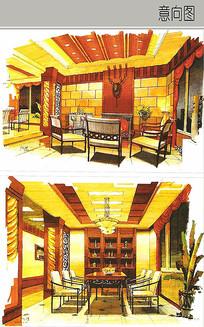 中式豪华室内装修