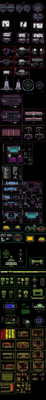 中式会所建筑施工图
