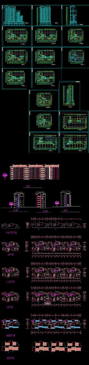 中式小区高层建筑图纸
