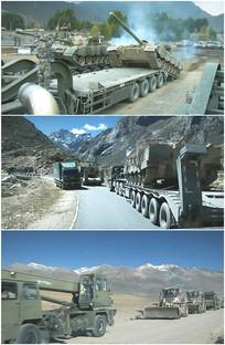 装甲部队转移坦克专列运输视频