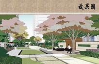 住宅区景观设计效果图