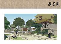住宅区景观效果图