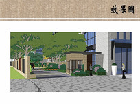 住宅区入口景观效果 JPG
