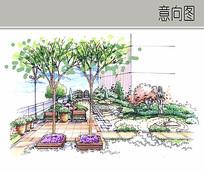 住宅组团屋顶花园