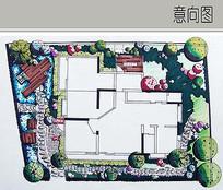 别墅景观平面图