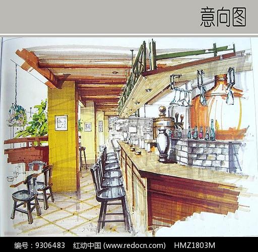 茶室吧台设计