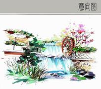 叠泉水车景观 JPG