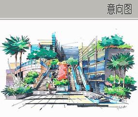 地下商城手绘图