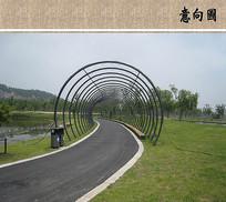 弧形廊架意向图