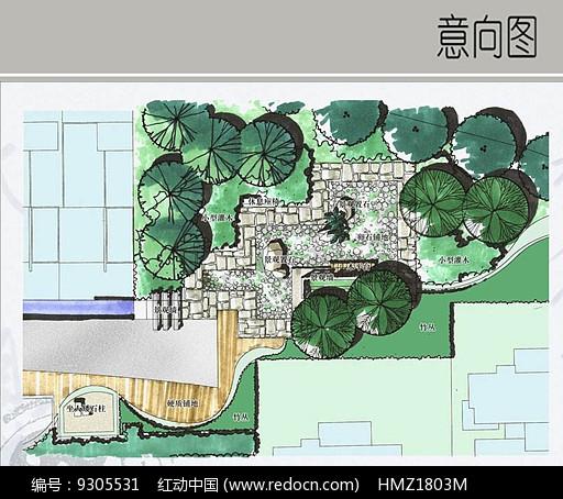 景观置石平面图