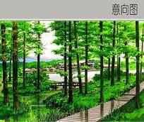 精细的生态风景手绘 JPG