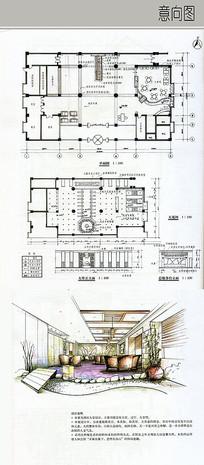 酒店大堂设计详图 JPG