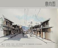老街道手绘效果图 JPG