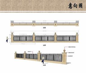 围墙设计方案意向