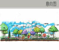 中国红雕塑景观立面