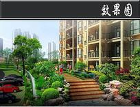 中建龙城宅间绿化效果图