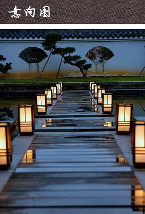 中式草坪灯具