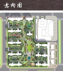 住宅小区广场景观平面图