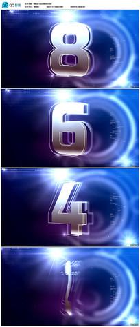 3d蓝色倒计时视频