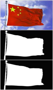 4K中国国旗视频素材