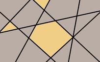 抽象几何三角形透明玻璃背景墙