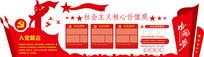 高端红色社区党建展板