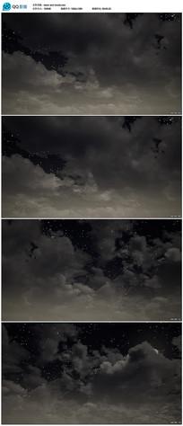 黑色星空背景视频