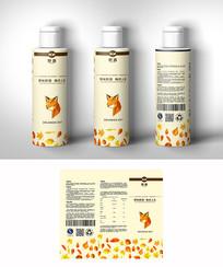 几何动物饮料包装