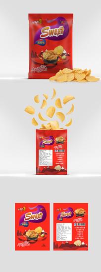 麻辣薯片包装