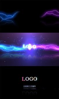 闪电碰撞LOGO片头AE模板