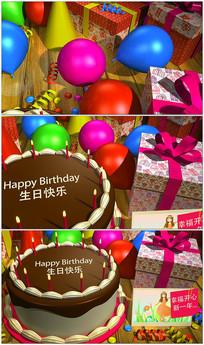 生日快乐AE模板视频