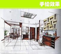 现代中式室内布置