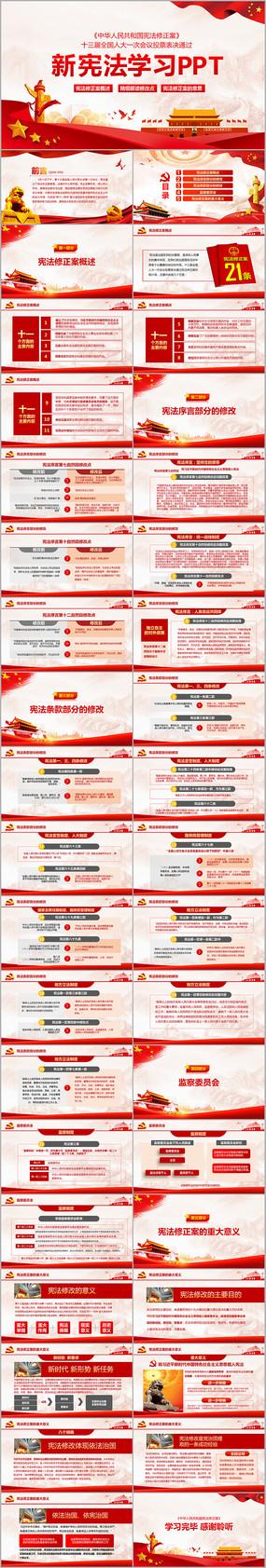 新宪法PPT中共中央宪法修改PPT