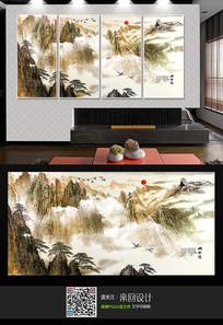 新中式山水背景墙装饰画
