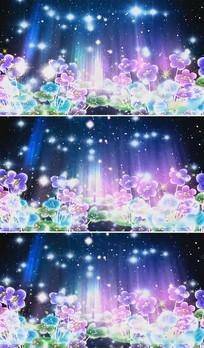 幽蓝小花歌曲舞台背景视频素材