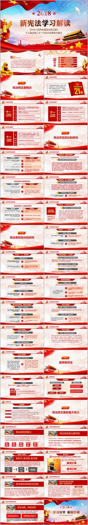 中华人民共和国宪法修正案解读PPT